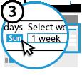 Step 3 Choose Your Week